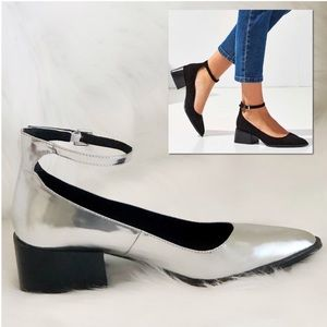 Sol Sana pointy toe Mary Jane ankle wrap heel